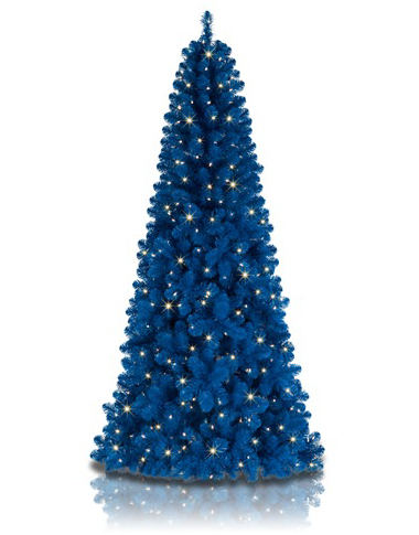 A blue tree is the birth month color for December