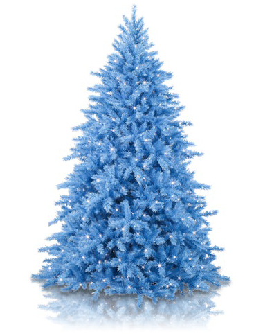 A blue tree is the birth month color for March